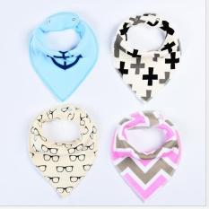 4 Pcs Baby Bibs Kids Head Scarf Towel New Boy Girl Dribble Menyusui Air Liur Bandana-Intl