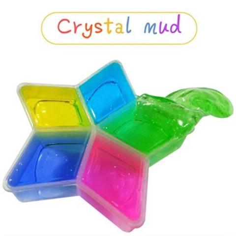 5 Pcs Clay DIY Crystal Lumpur Cara Transparan Magic Mainan Anak-Intl 3