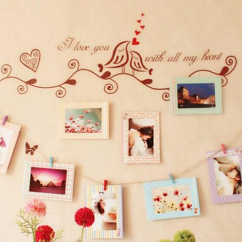 8 Pcs 6 Inch Kreatif Hadiah Hiasan Rumah DIY Bingkai Foto Gantungan Dinding Kertas Album Bingkai Foto-Intl 2