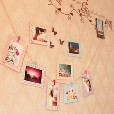 8 Pcs 6 Inch Kreatif Hadiah Hiasan Rumah DIY Bingkai Foto Gantungan Dinding Kertas Album Bingkai Foto-Intl 1