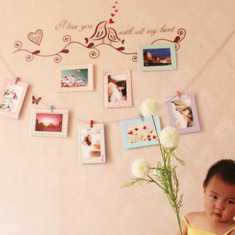 8 Pcs 6 Inch Kreatif Hadiah Hiasan Rumah DIY Bingkai Foto Gantungan Dinding Kertas Album Bingkai Foto-Intl 4