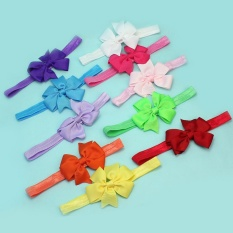 AC 10 Pcs Terbaru Bayi Gadis Bayi Balita Headband Bunga Headwear Hair Band-Intl