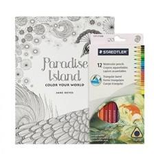 Buku Mewarnai Dewasa Set-50 Halaman Detail Tinggi Mindfulness Mewarnai Buku untuk Orang Dewasa dan Anak-anak dengan 12 Mewarnai Staedtler pensil-Internasional
