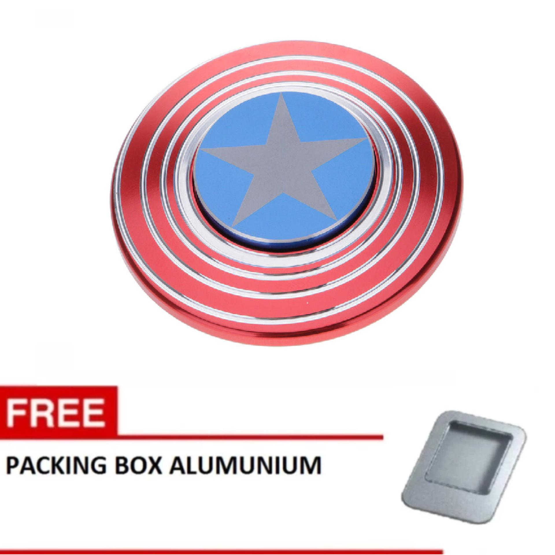 ... Techland Alumunium Alloy Full Bearing. Source · ANGEL - Fidget Spinner Aluminium Premium Captain America Focus Hand Toys Mainan Spinner EDC Aluminium