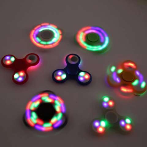 ANGEL LED Fidget Spinner Hand Toys Mainan Tri-Spinner EDC Focus Games Penghilang stress Warna