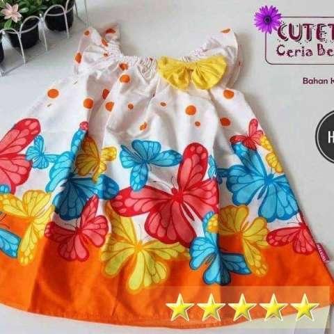 Baby Dress Cutettrik Buterfly Dress Bayi Cutetrik Kupu-Kupu 1