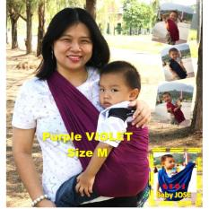 BABY JOSE Premium Q Gendongan Bayi Kaos 'M' PURPLE Violet / GEOS / Gendongan Bayi / Selendang Bayi - PADIE