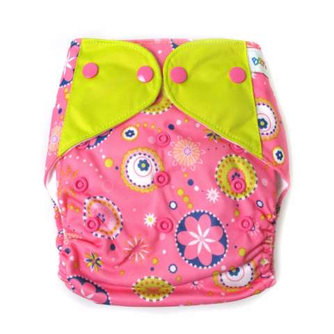 Baby Grow Clodi with 2 inserts - Pink Circles