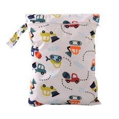 Baby Portable Popok Dicuci Popok Kering Basah Ritsleting Tas Popok Kain Waterproof Mobil-Intl