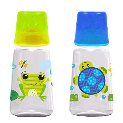 Baby Safe Feeding Bottle 125ML 2 Pcs JS001 Hijau dan Biru