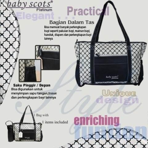 Baby Scots Platinum - Mommy Bag 60 - Khaki