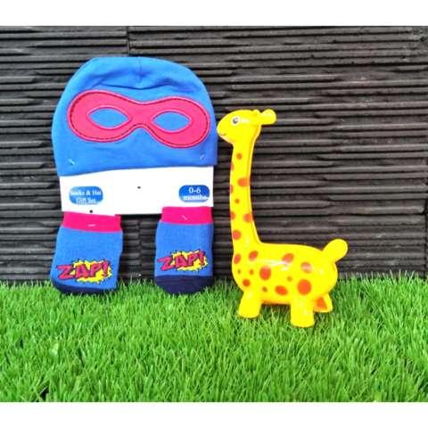 Baby Set Animals (Hat + Socks ) - 1 Set Kaos Kaki + Topi Bayi 8a49e5a882