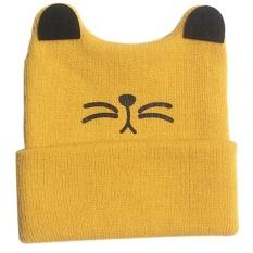 Bayi Balita Anak Laki-laki Gadis Rajutan Crochet Cat Ear Beanie Musim Dingin Hangat Topi Hat YE-Intl