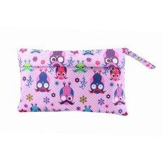 Bayi Waterproof Travel Wet Kering Storage Bag Portable Cloth Zipper Kantong Popok Pink OWL-Intl