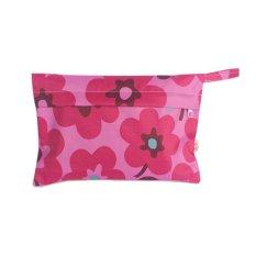Bayi Waterproof Travel Wet Kering Storage Bag Portable Cloth Zipper Kantong Popok Mawar Bunga-Internasional
