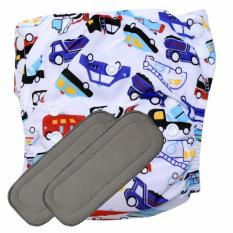 Babyland celana clodi bayi cuci ulang motif Vehicle untuk bayi berat 8 sampai 20 kg dengan
