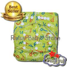 DIAPERS POLOS ROYAL BLUE. Babyland Pocket Motif Green Alphabet Popok Bayi Cuci .