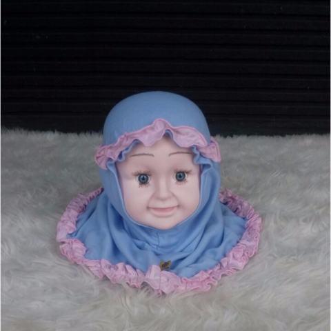 Baju Anakumi Kerudung Bayi Baby Blue