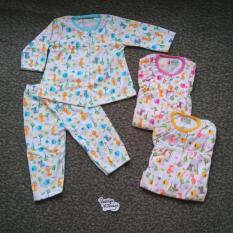 Baju Bayi Perempuan Piyama Baju Tidur Motif Animal Syifa