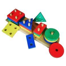 Basic Shape 4 Bentuk -  Cocok untuk anak usia 2 tahun (+)