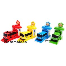 BB Mart 4 Pcs Tayo The Little Bus Garasi 333-002A