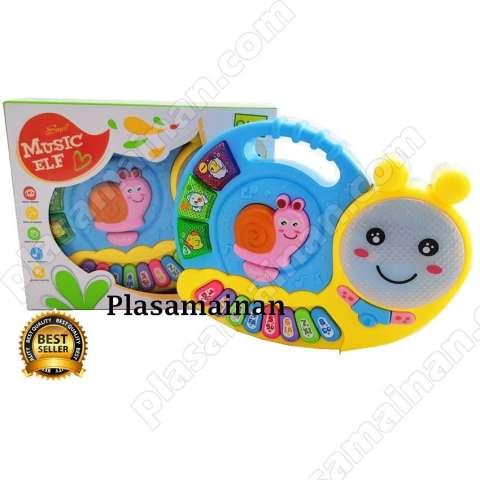 BB Mart Mainan Music Elf Piano Siput BO 3021
