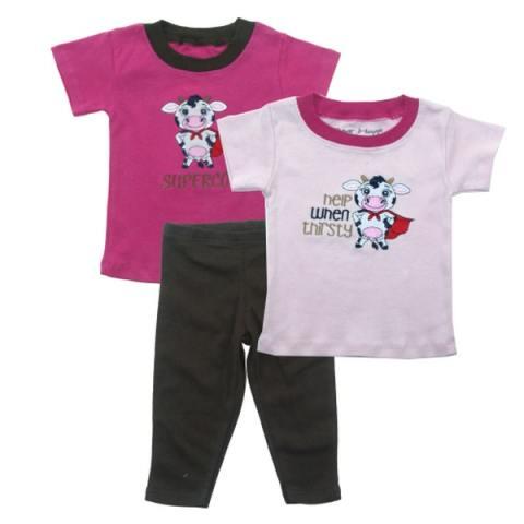 ... Motif WTP Biru Topi Sepatu . Source · Bearhug 3 Pieces sets Bayi Perempuan 12-24M Sapi Pink