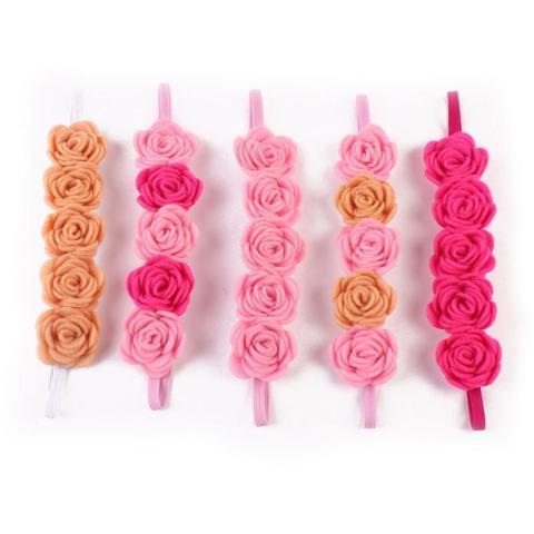 Beauty Bunga Elastis Ikat Kepala Rambut Tali Hiasan Kepala untuk Bayi Perempuan Yang Baru Lahir Balita-Internasional 2