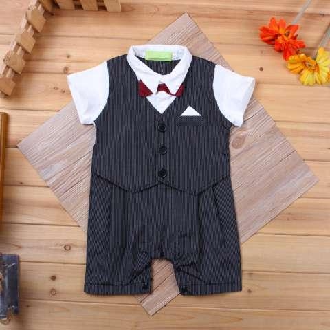 Belle Maison Tuxedo Romper Bayi - Baju Jumper Bayi dan Anak Setelan Baju Bayi dan Anak