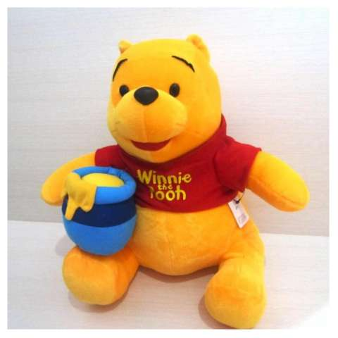 ... 1 Pooh Set Aksesoris Interior Mobil. Source · Boneka Winnie The Pooh With Bags Of Honey - Yellow Red