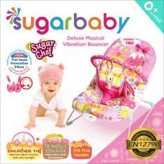 Bouncer Sugar Baby Chef - 1 recline - sugarbaby - Kursi Goyang Bayi - Mainan Bayi - pink