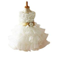Bunga Pernikahan Rok Dewasa Tutu Dalam Lapis Pita Putih