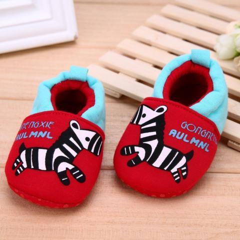 Jual Kartun Hewan Merah Pola Sepatu Bayi Elastis Band Soft Pertama Walker  Sepatu 4eaa494db6