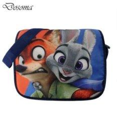 Hewan Crazy Town Bag Judy Nick Zootopia Karakter Kartun Shoulder Bag Satchel Bag Plush Tas Sekitarnya Animasi Film-Intl