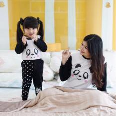Dessan Piyama Couple Ibu Dan Anak Face Panda - Long Sleeves