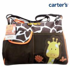 Diaper Bag Big Carter Motif Giraffe Orange (Tas Perlengkapan Bayi)