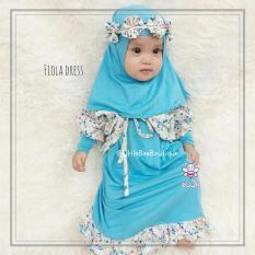 Elbi - Baju Muslim Anak Balita - Fiola Dress by Little Bee Boutique