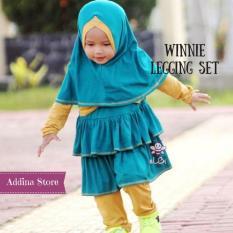 Elbi Winnie Legging Set / Baju Muslim Anak / Baju Muslim Anak Perempuan / Baju Balita / Baju Balita Perempuan / Baju Anak Balita / Addina Store