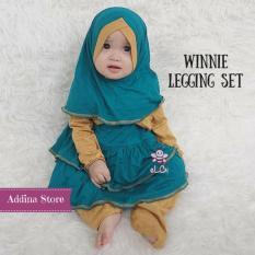 Elbi Winnie Legging Set / Baju Muslim Anak / Baju Muslim Anak Perempuan / Baju Balita / Baju Balita Perempuan / Baju Anak Balita