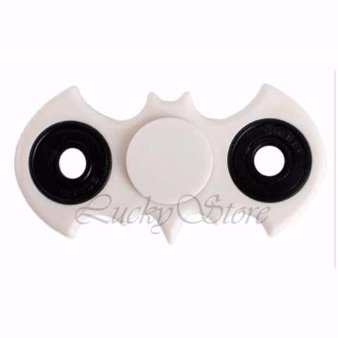 Lucky Fidget Spinner Batm4n Kelelawar Hand Toys Mainan EDC Ceramic Ball Focus Games - Putih /