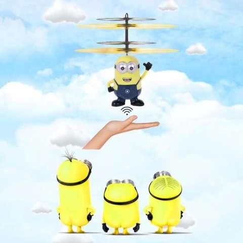 Flying Heli / Helicopter Toy Mainan Anak Terbang Minion Doraemon - 1Cwjr3