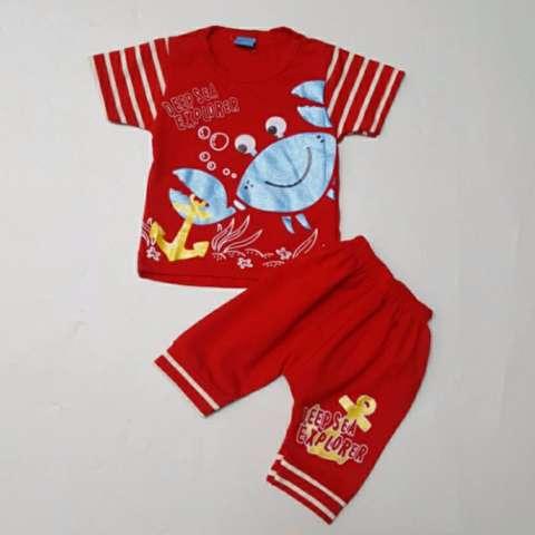 ... Freeshop Baju Anak Setelan Deep Sea Crab Red Set F1055 1 Set