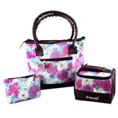 Gabag diaper bag dan cooler bag coolerbag 3 in 1 Daisy - tas penyimpan asi asip - thermal bag tas bayi