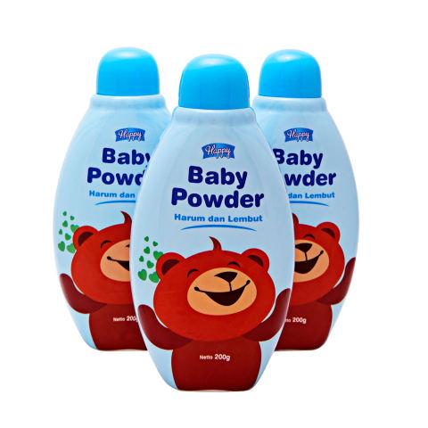 Happy Baby Powder - Biru - 3 Pcs