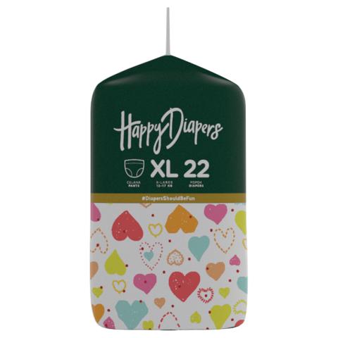 Happy Diapers Pant Popok Bayi - Love Me - Size XL - 22 pcs