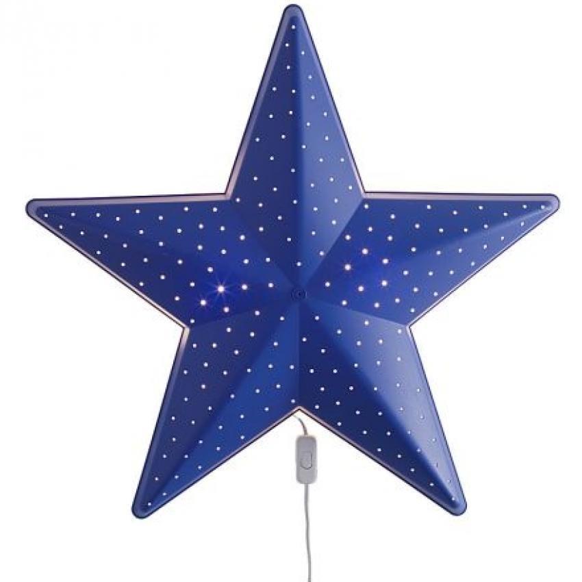 IKEA Smila Stjarna - Lampu Dinding Lampu Tidur Kamar Anak Motif Bintang – Biru