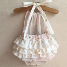 ISM Tersedia Bayi Aksesori Decorations Bayi Infant Modis Baju Monyet Tak Berlengan Tanpa Bagian Belakang Mermaid Ruffled-Internasional