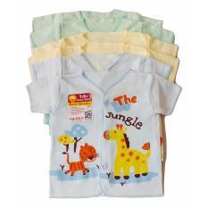 Jelova Angela Setengah lusin Baju Atasan Pendek Tara Baby Bayi Motif Giraffe  Lion SNI Standart - Mixcolour