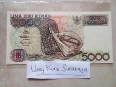 Uang kuno rp5000 atau 5000 Sasando Kondisi Baru N Mulus N Asli