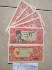 Uang kuno Rp1 - 1 Rupiah Sukarno Kondisi Baru N Mulus N Asli